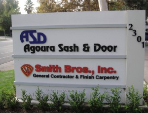 Smith Bros & Agoura Sash & Door Sign in Westlake Village, CA