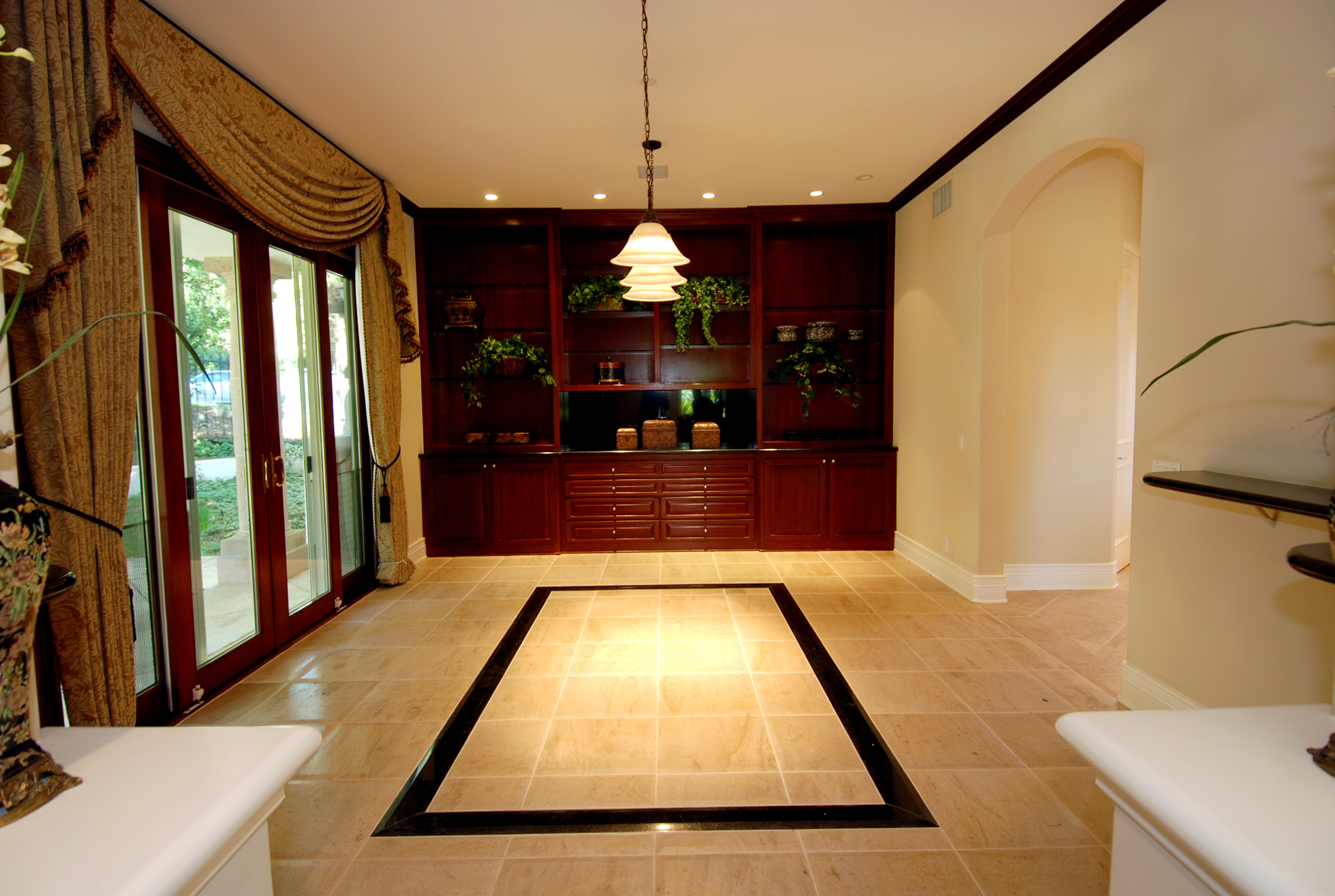 Mediterranean manor luxury home finish carpentry project for Luxury floor